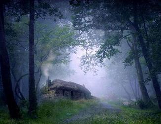 黑夜孤寂风景图片